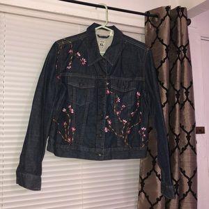 GAP flower jean jacket